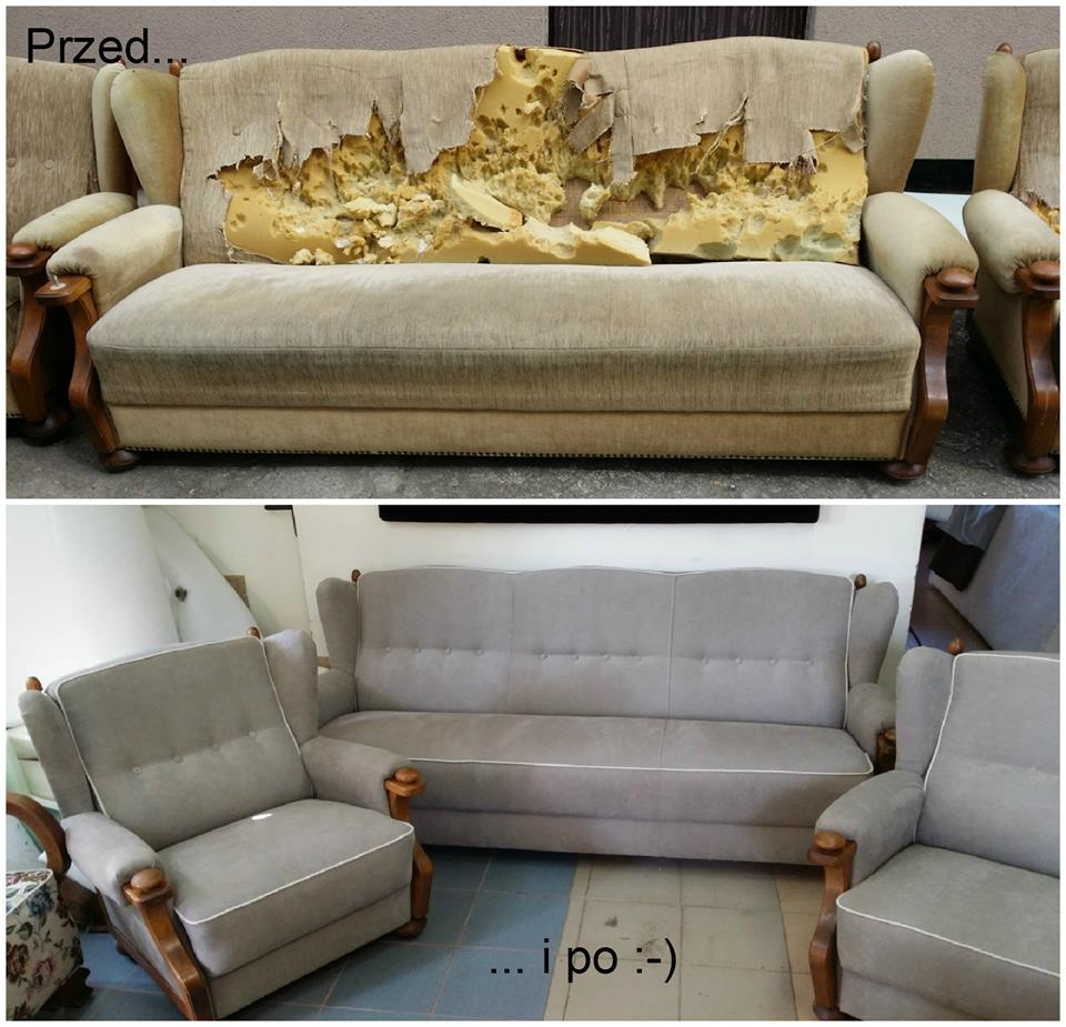 renowacja mebli przed i po